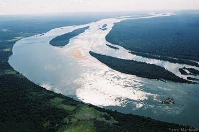 Bacia hidrográfica - vista aérea